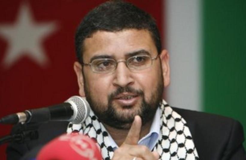 Hamas spokesperson Sami Abu-Zuhri (photo credit: REUTERS)