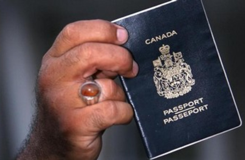 Canadian passport (photo credit: REUTERS)