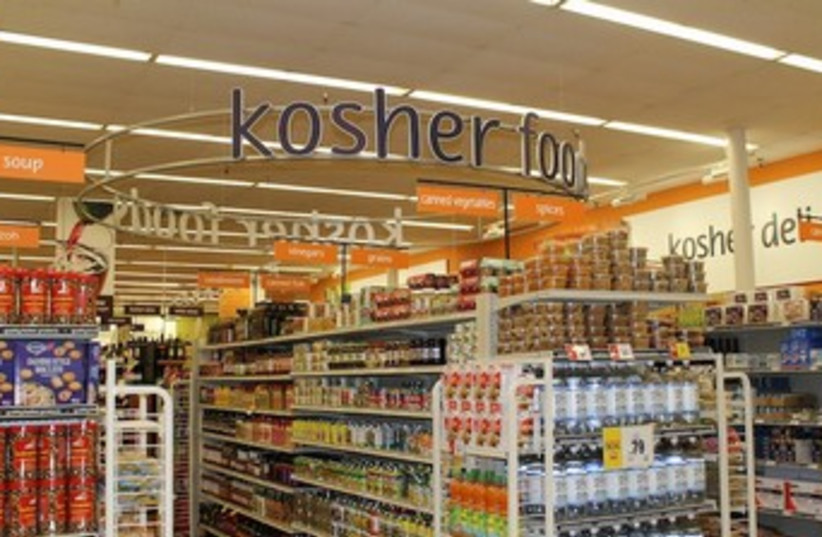 The kosher section at Winn-Dixie's Boca Raton store (photo credit: URIEL HEILMAN/ JTA)