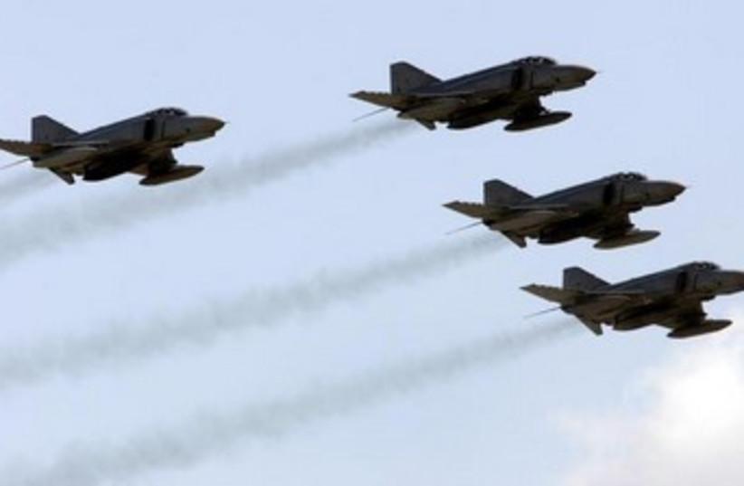 F-4 Phanton military aircrafts (photo credit: REUTERS)