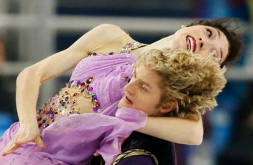 Meryl Davis and Charlie White, February 17, 2014 (photo credit: REUTERS)
