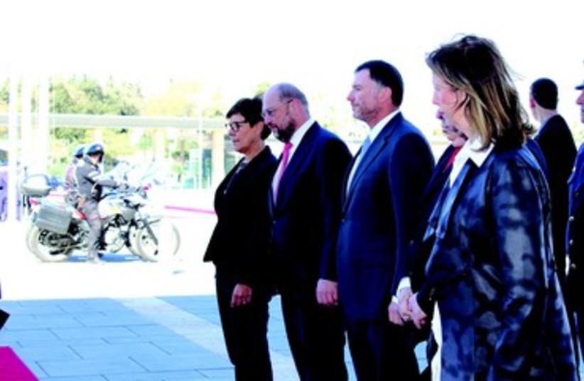 Martin Schulz et Youli Edelstein (photo credit: MILKA KAHN)