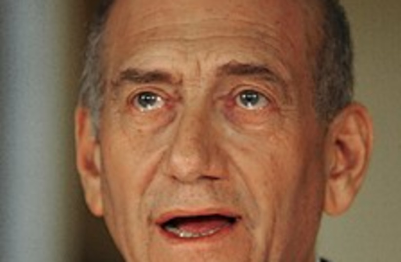 olmert quits 224.88 (photo credit: AP)