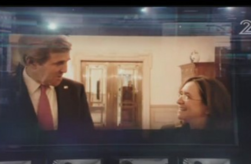 John Kerry in interview with Channel 2 (photo credit: screenshot)