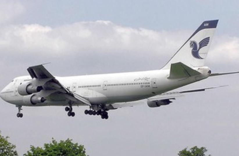 Iranair Boeing 747-100B (photo credit: Wikimedia Commons)