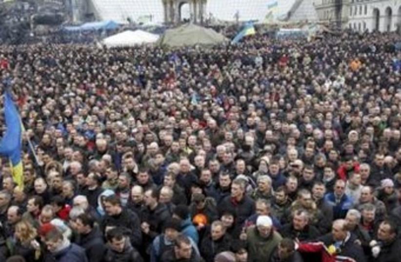 Kiev, Ukraine, February 22, 2014 (photo credit: REUTERS)