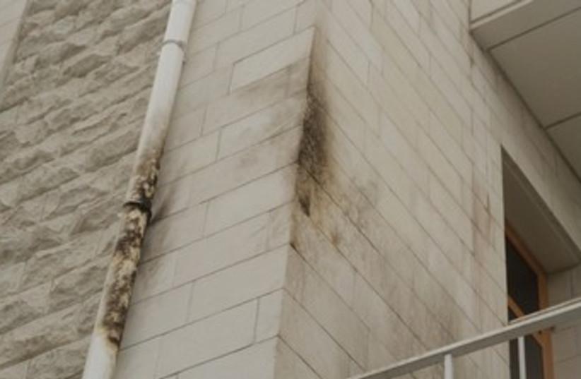 Synagogue in Ukraine firebombed (photo credit: HTTP://Z-CITY.COM.UA/)
