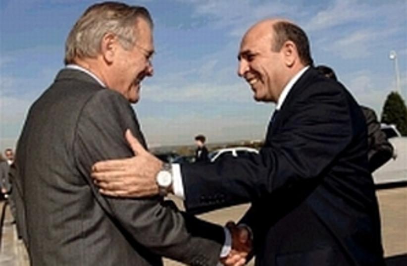 mofaz rumsfeld 298 AP (photo credit: )