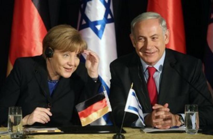 Angela Merkel and Binyamin Netanyahu (photo credit: MARC ISRAEL SELLEM)
