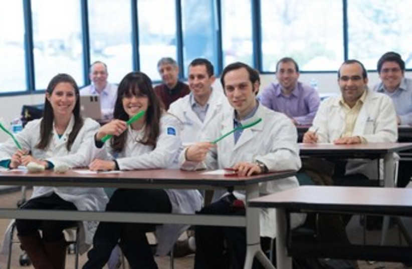 Dentists who took the exam in New Jersey. (photo credit: SHAHAR AZRAN)