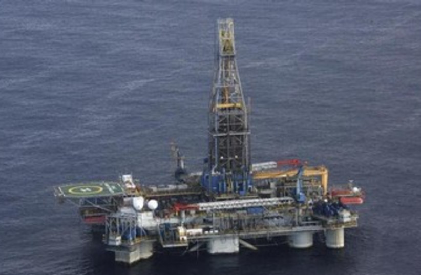 The Homer Ferrington gas drilling rig. (photo credit: REUTERS)