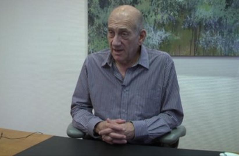 Former prime minister Ehud Olmert (photo credit: ELI MANDELBAUM)