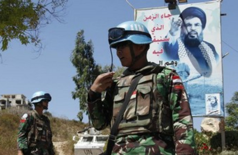 UNIFIL in Lebanon (photo credit: REUTERS)