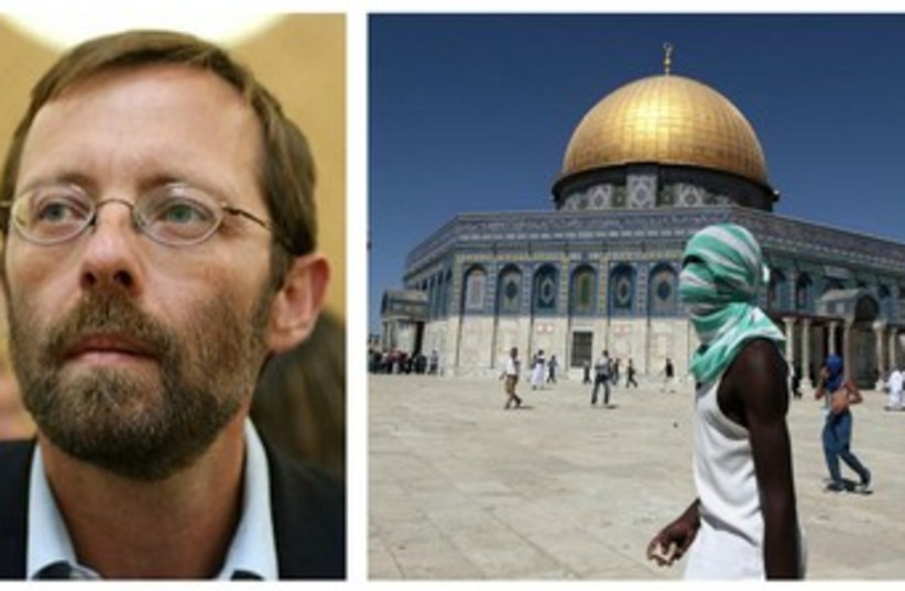 Likud MK Moshe Feiglin wants to cause a stir on Temple Mount (photo credit: FLASH 90,REUTERS)