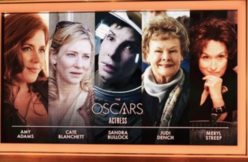 The 86th Academy Awards nominations for Best Lead Actress in a motion picture are Amy Adams, 'American Hustle'; Cate Blanchett, 'Blue Jasmine'; Sandra Bullock, 'Gravity'; Judi Dench, 'Philomena'; and Meryl Streep, 'August: Osage County.'  (photo credit: LIONEL HAHN/ABACA PRESS/MCT)