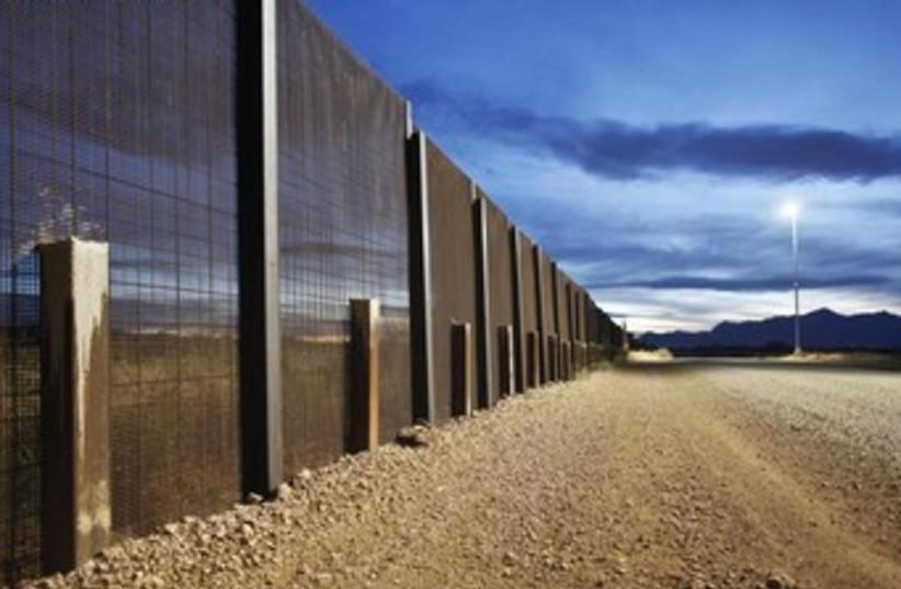 The Arizona-Mexico border fence near Naco, Arizona. (photo credit: REUTERS)