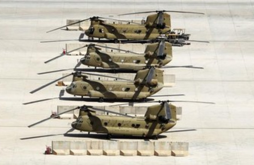 United States Army helicopters. (photo credit: REUTERS)