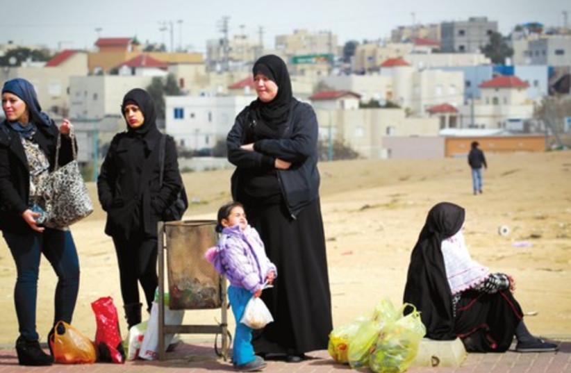 Beduin women in the Negev (photo credit: HADAS PARUSH)