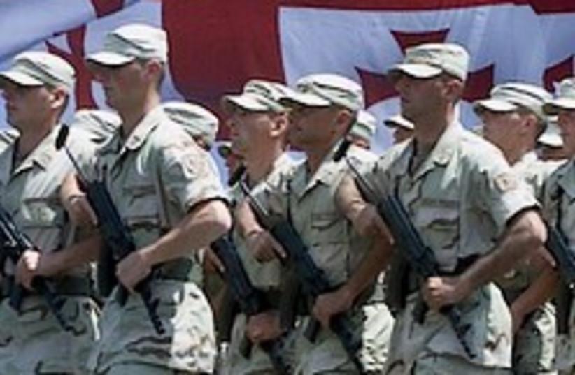 Georgian soldiers 224.88 (photo credit: AP)