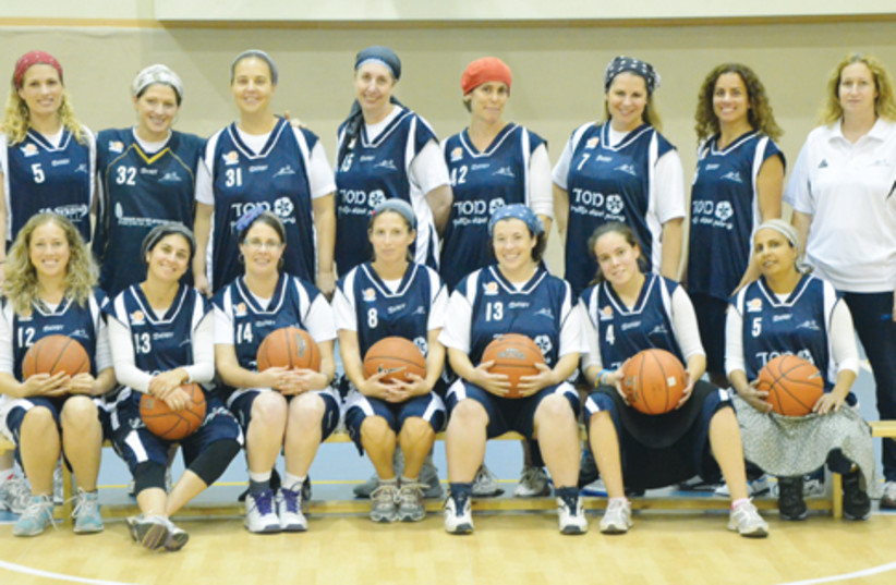The women's team in Kfar Tapuah (photo credit: Courtesy)