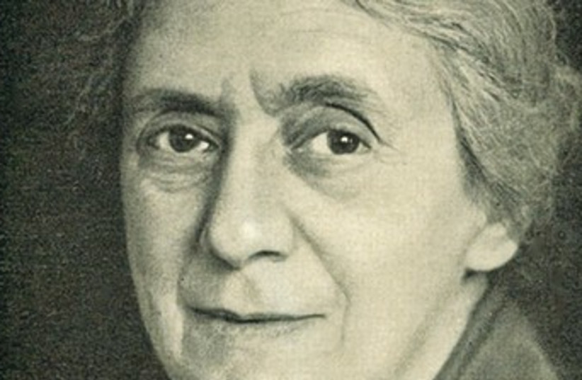 HENRIETTA SZOLD, activist and medical pioneer, seen in 1940.  (photo credit: Wikimedia Commons)