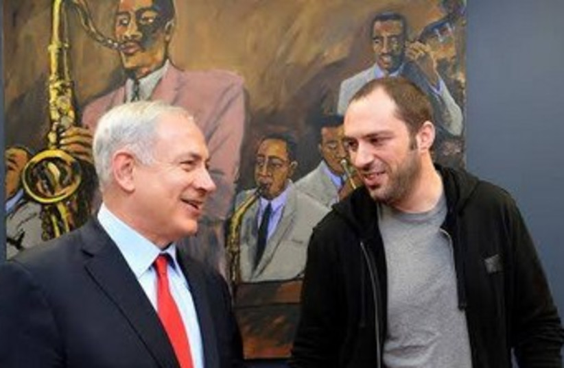 Netanyah meets WhatsApp founder (photo credit: PRIME MINISTER'S OFFICE)