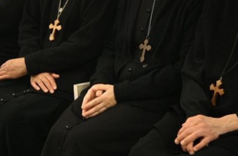 Orthodox Christian nuns in Damascus [Illustrative]. (photo credit: REUTERS)