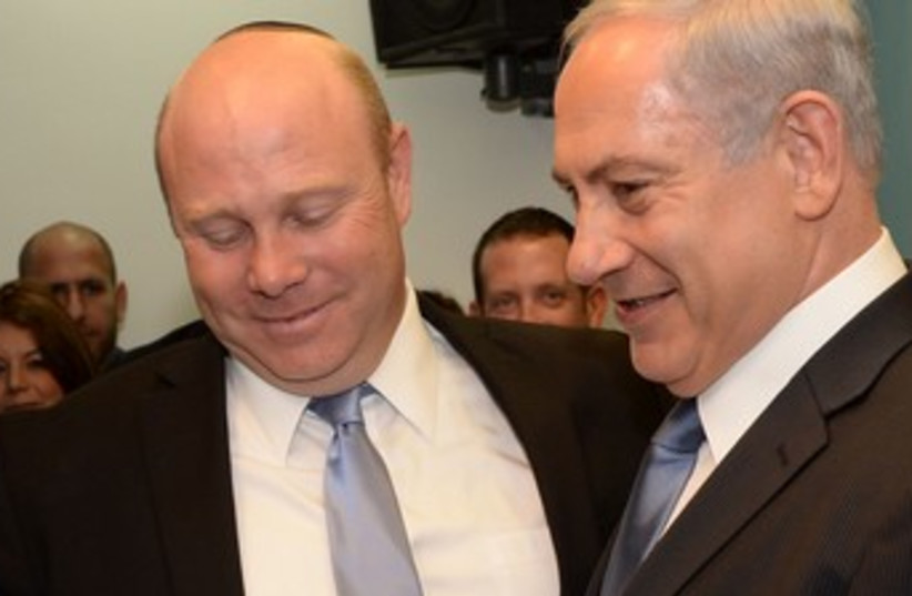 Gil Shefer with Netanyahu (photo credit: GPO)