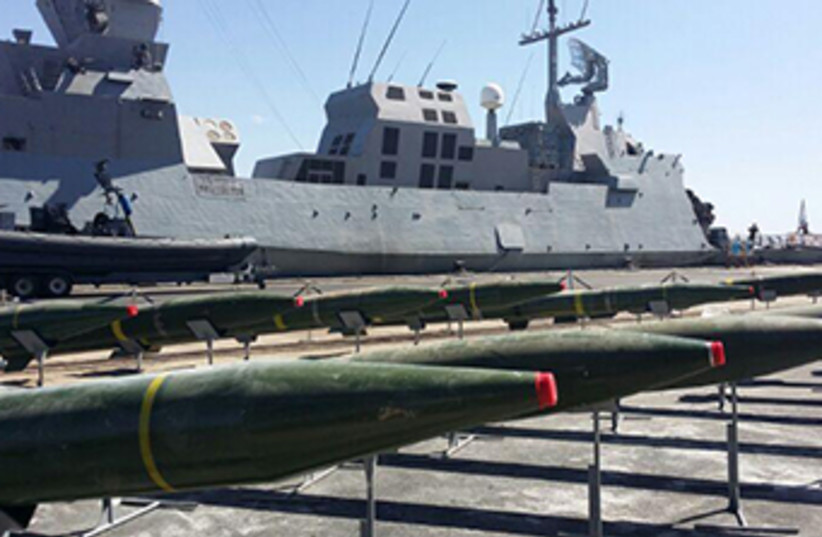 M-302 rockets from Iran's weapons shipment to Gaza (photo credit: IDF)