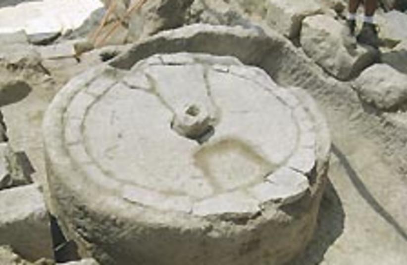 olive press 224 (photo credit: Antiquities Authority)