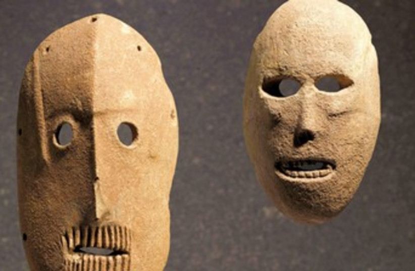 World's oldest masks (photo credit: Courtesy)