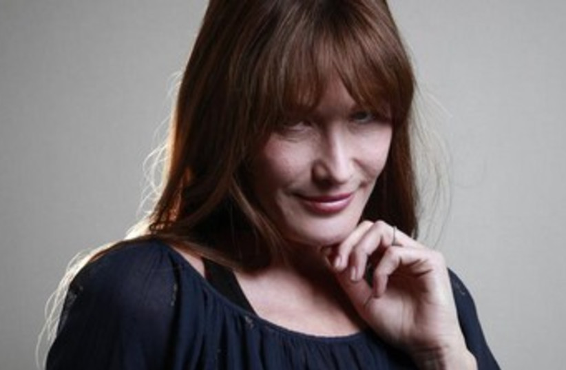 Carla Bruni-Sarkozy, the former model and French first lady, will perform in Israel. (photo credit: REUTERS)