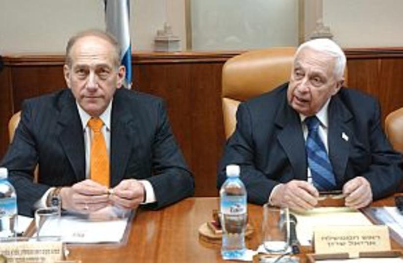 olmert sharon cabinet298 (photo credit: Ariel Jerozolimski)