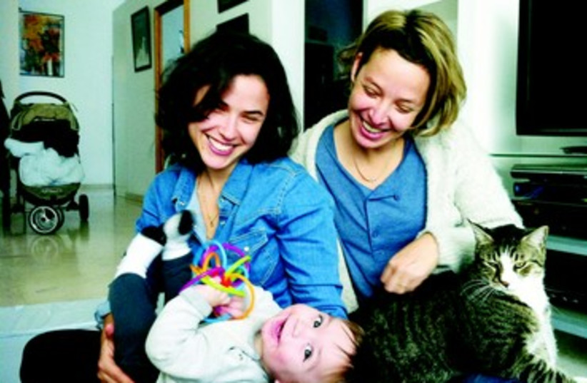 Dana Ziv Dror, sa compagne Einat et leur fils Ilay (photo credit: DR)