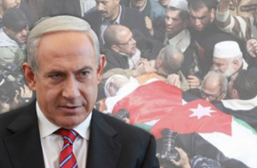 Netanyahu expresses regret for killing of Jordanian judge (photo credit: REUTERS,MARC ISRAEL SELLEM/THE JERUSALEM POST)