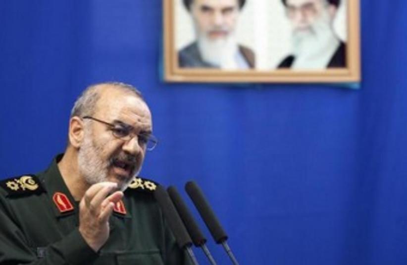 Hossein Salami, deputy head of Iran's Revolutionary Guard. (photo credit: REUTERS)