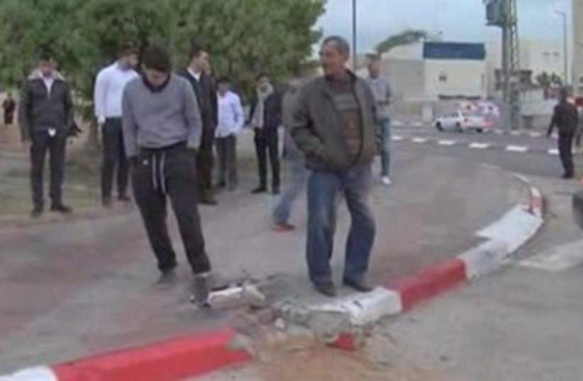 Rocket damage in Sderot, March 12, 2014 (photo credit: REUTERS)