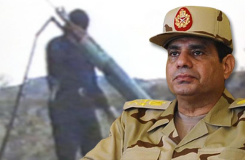 Egyptian military leader Abdel Fatah al-Sisi (photo credit: REUTERS)