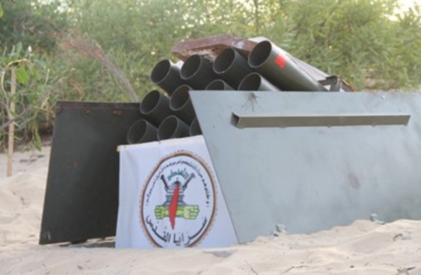 Islamic Jihad underground rocket launcher (photo credit: screenshot)