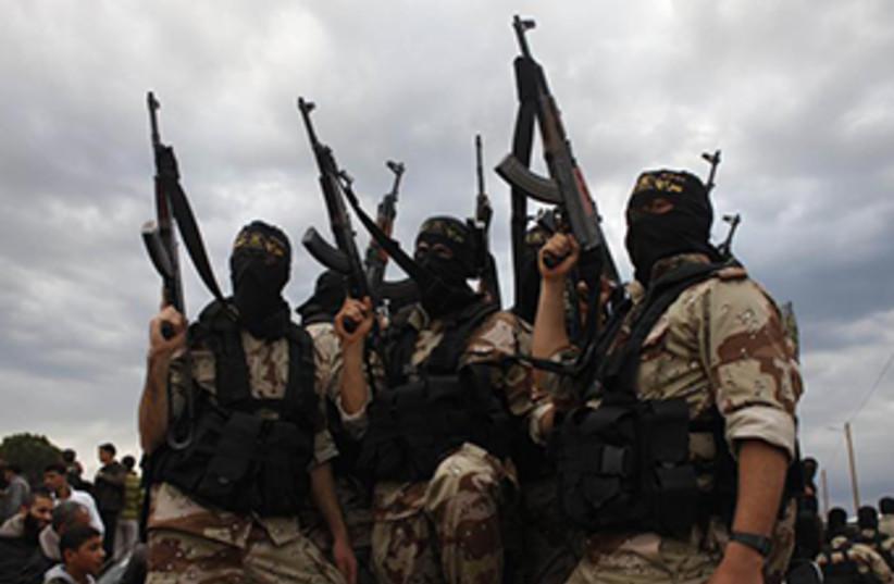 Islamic Jihad members (photo credit: REUTERS)