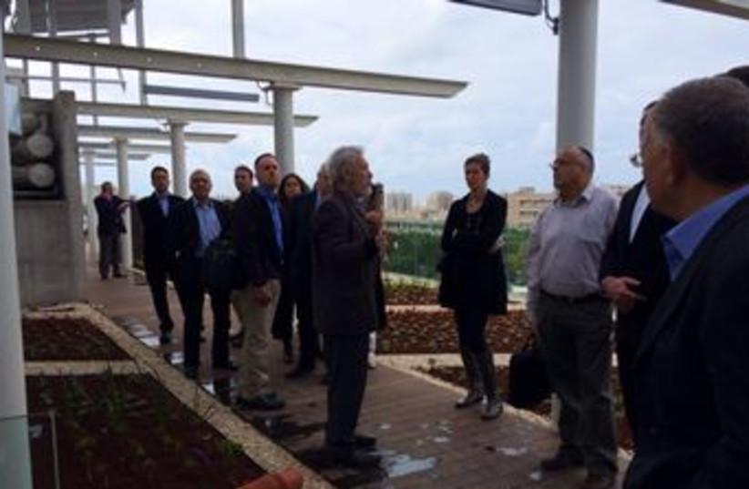 Knesset staff pay a visit to Tel Aviv University's Porter School. (photo credit: SHARON UDASIN)
