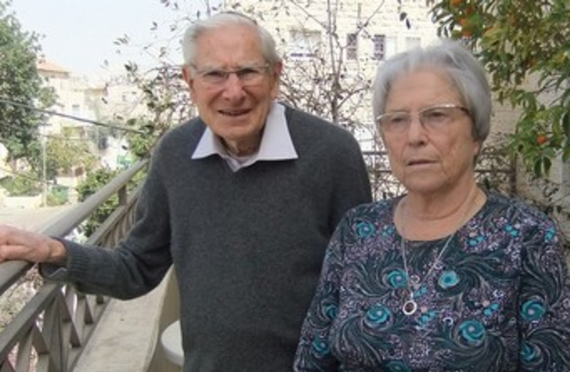 PROF. MARTA WEINSTOCK-ROSIN, who will recieve the Israel Prize for Medicine, and her husband Prof. Arnold Rosin. (photo credit: JUDY SIEGEL-ITZKOVICH)