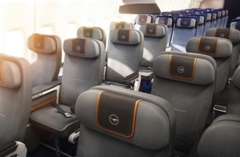 A VIEW OF THE Lufthansa Premium Economy cabin.  (photo credit: COURTESY LUFTHANSA)