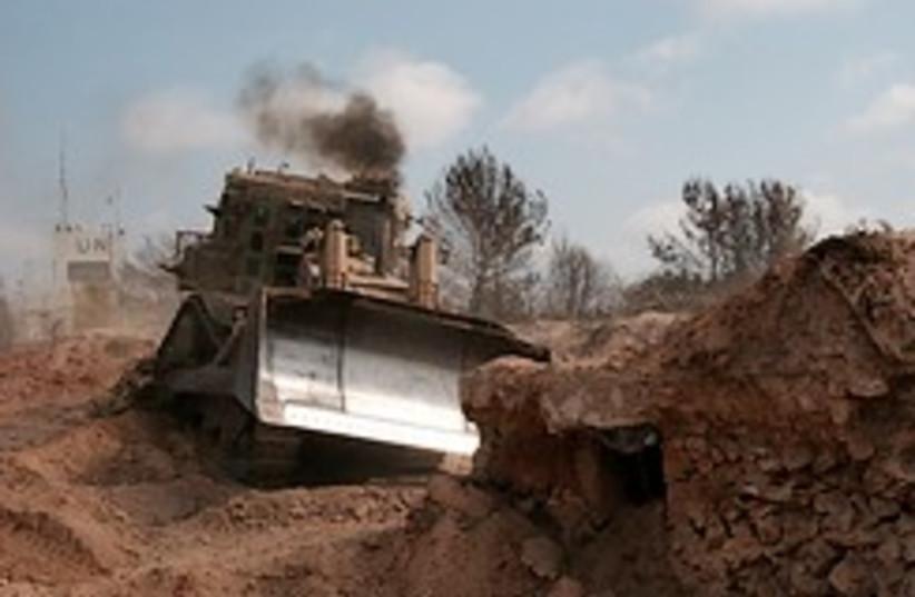 black thunder unmanned bulldozer 248.88 (photo credit: IDF)