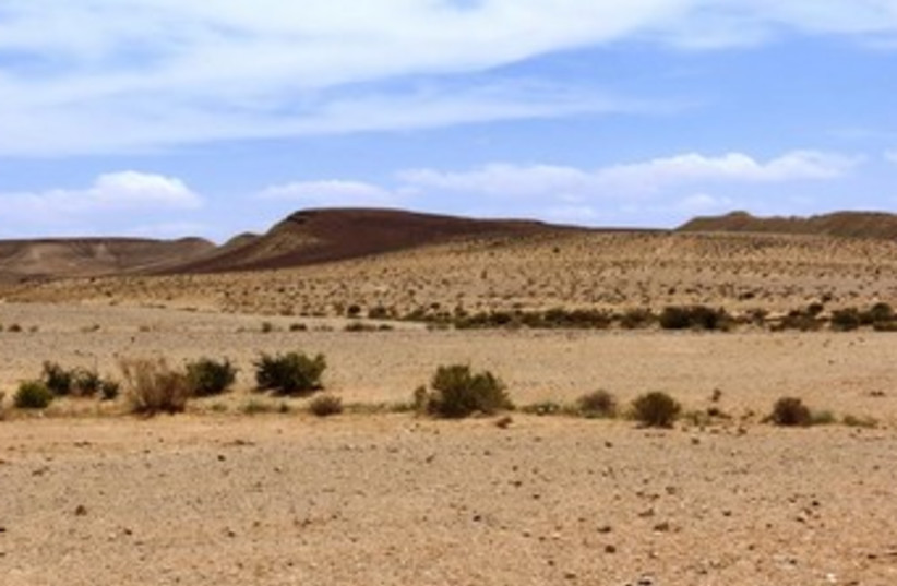 The Negev region where the rail link to Eilat is scheduled to pass through. (photo credit: SPNI)