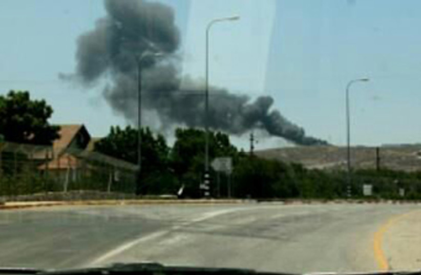 Device detonated against IDF soldier March 18 (photo credit: AVIV AZUZ)
