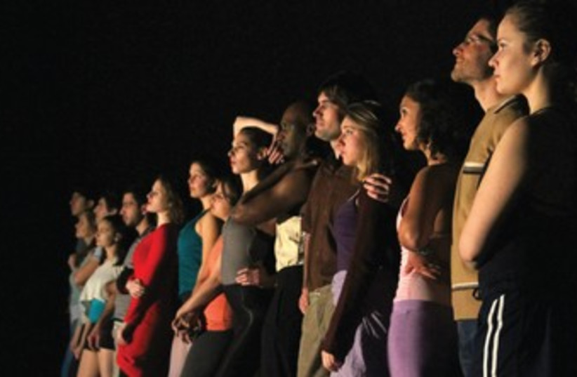ALIVE AND Kicking: The cast of Encore Theater's production of 'A Chorus Line.' (photo credit: ELIANNA)
