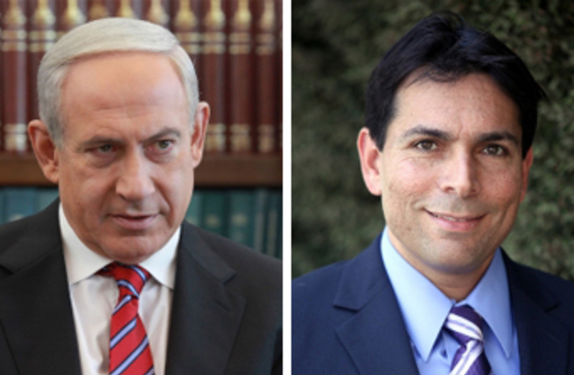 Prime Minister Benjamin Netanyahu and Israeli ambassador to the UN Danny Danon (photo credit: MARC ISRAEL SELLEM/THE JERUSALEM POST)