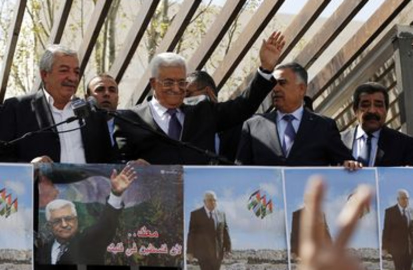 Abbas returns to Ramallah from US (photo credit: REUTERS)
