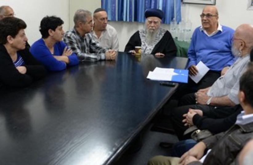 Families of missing iranian jews meet with chief rabbi, investigation coordinator (rt) (photo credit: GPO)